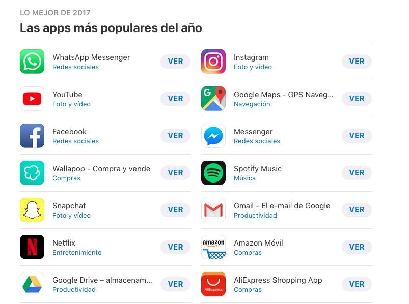 Apple desvela lo mejor del año en la App Store e iTunes