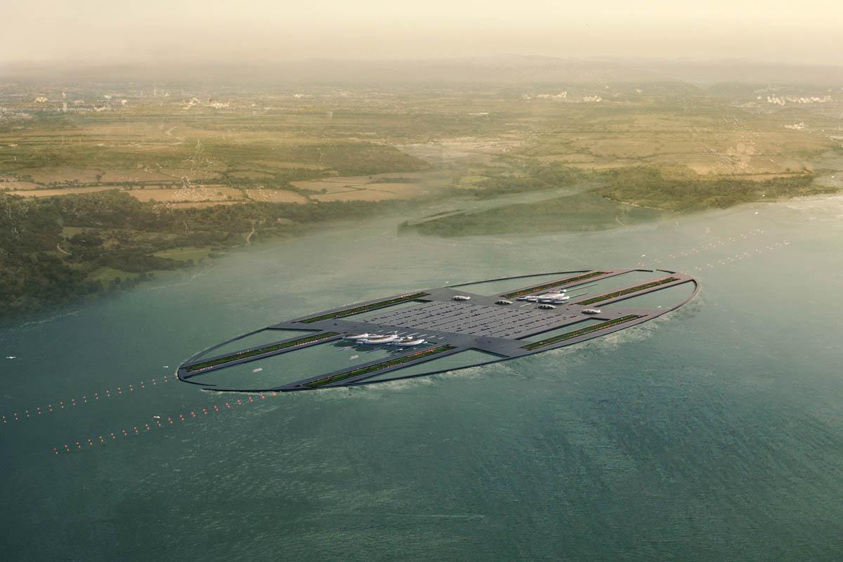 Aeropuertos flotantes para luchar contra la escasez de terreno