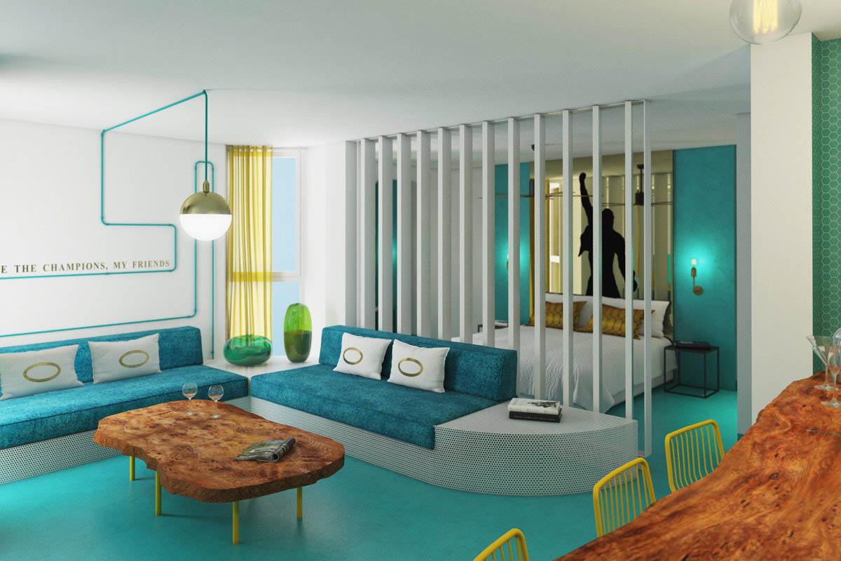 Santos Dorado Suites: El hotel del rock and roll
