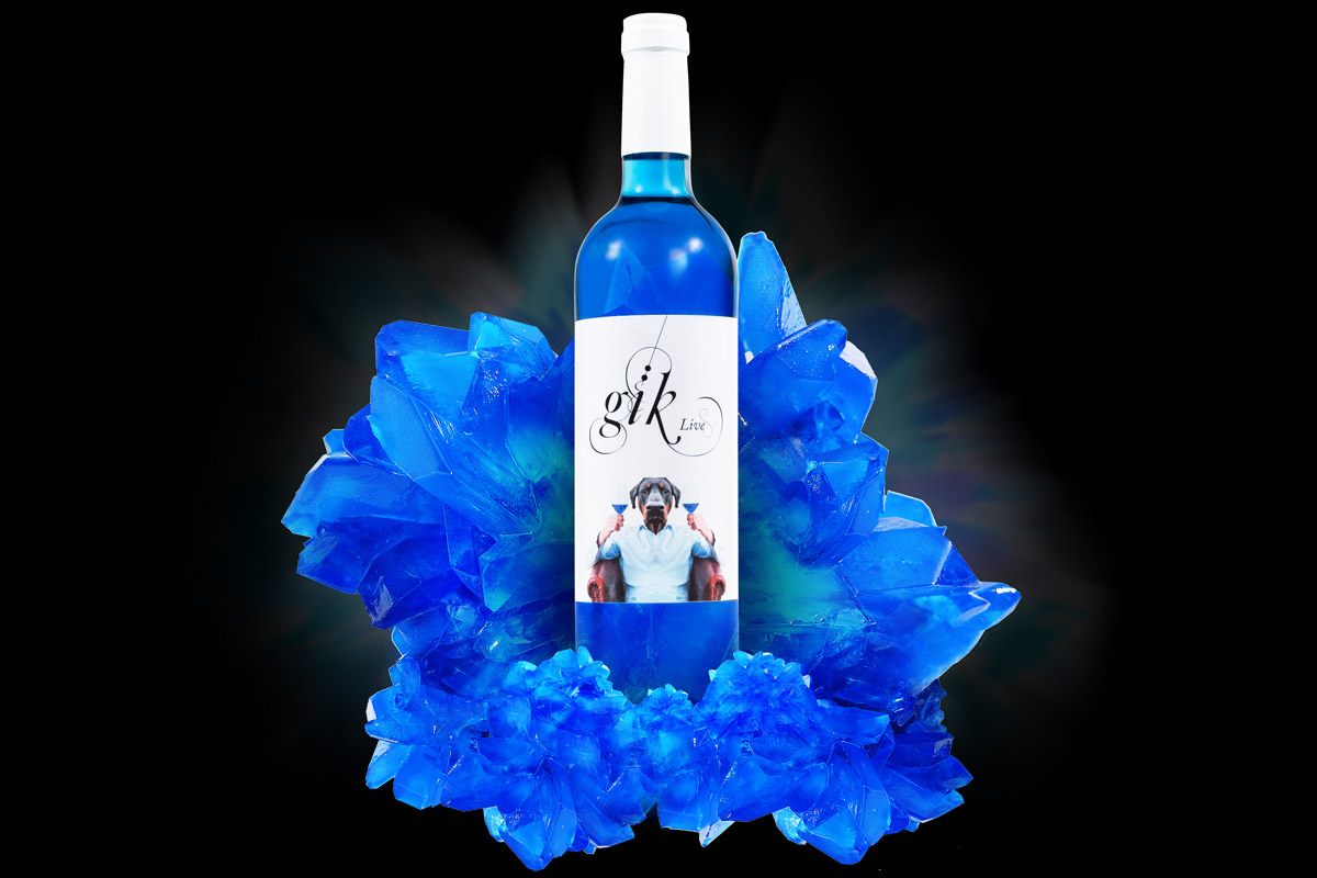 Gïk Blue, el vino azul que revoluciona el mundo