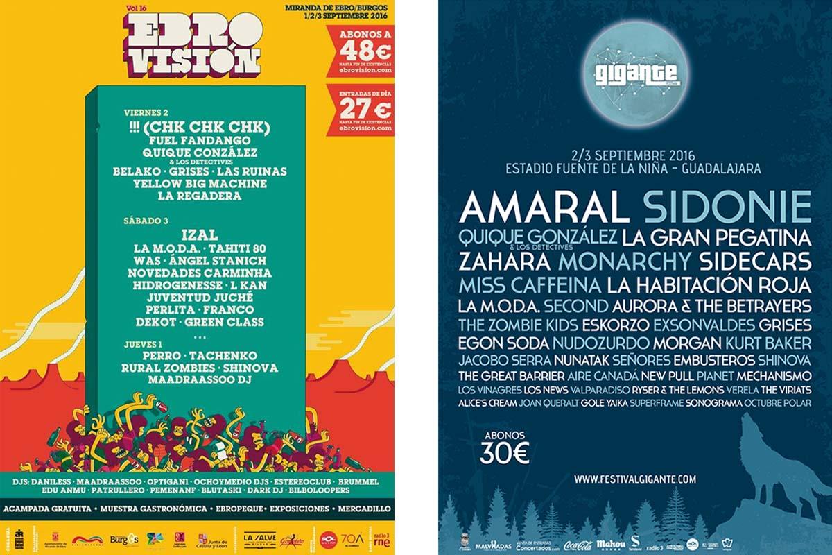 Ebrovisión 2016 y Festival Gigante 2016, dos festivales para este fin de semana