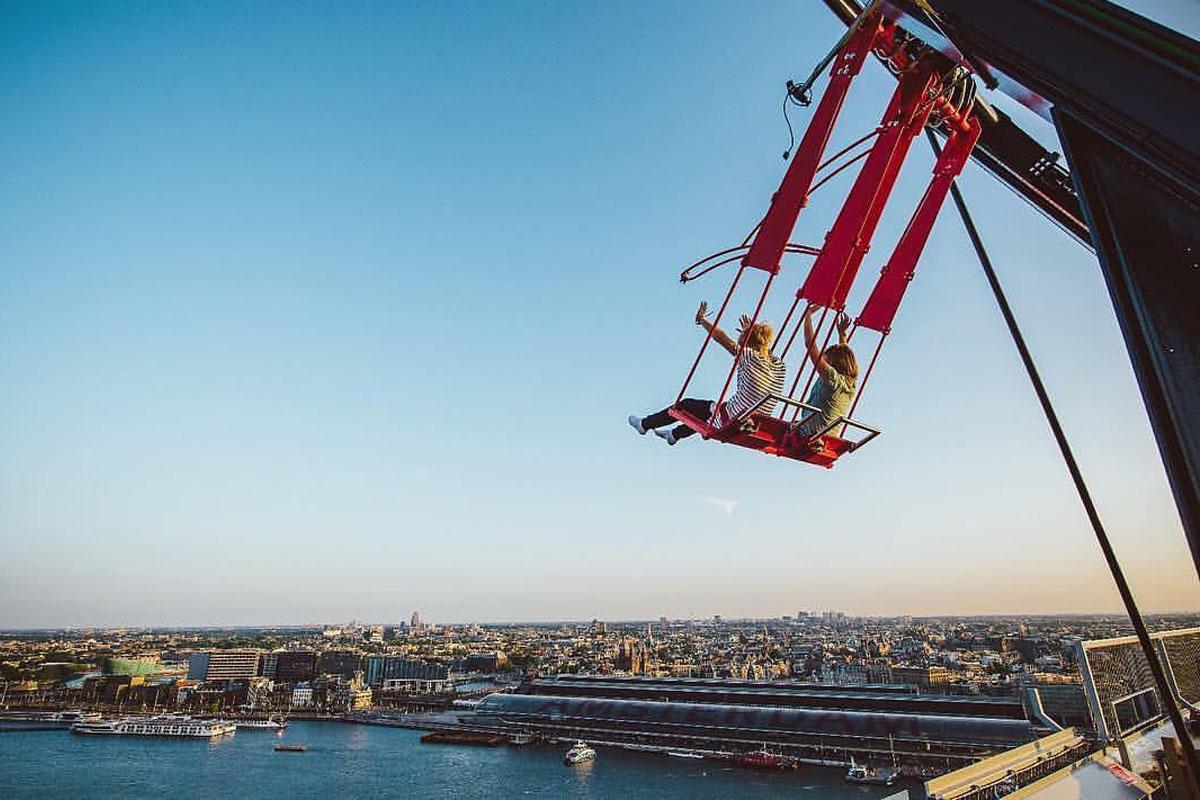Adrenalina a raudales en el columpio más alto de Europa