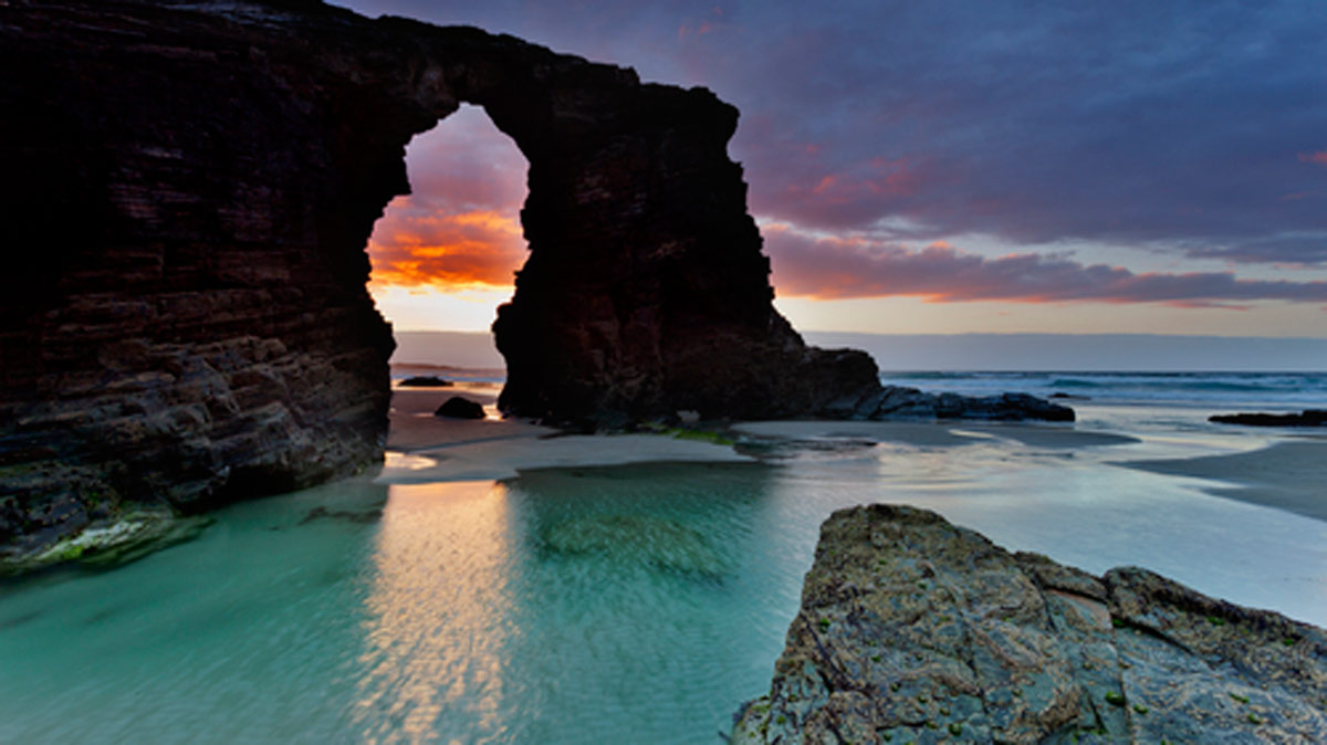 playa de las catedrales en gallego