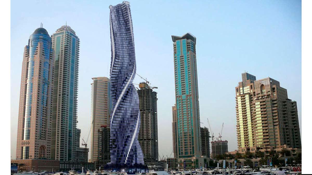 Dubai prepara el primer rascacielos giratorio del mundo
