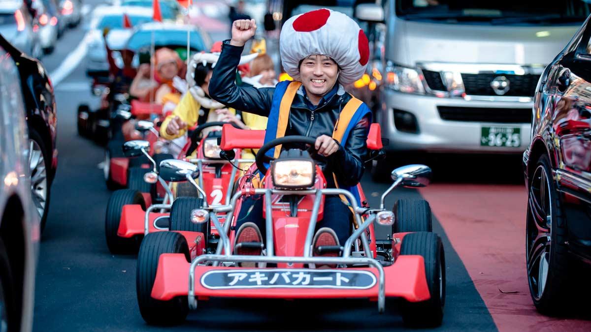 Vive la experiencia «Mario Kart» por las calles de Tokio
