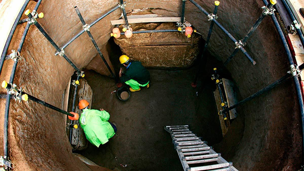 Encontrado un acueducto de 2.300 años en las obras del metro de Roma