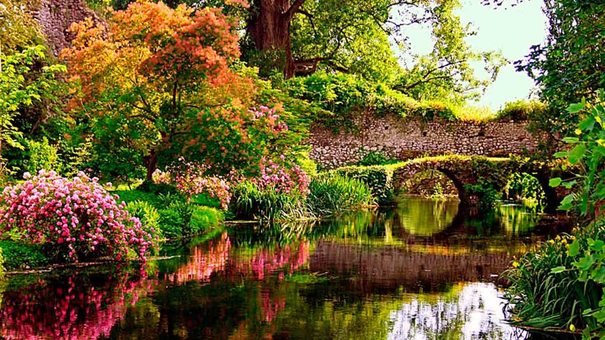 Giardino di Ninfa, el jardín más romántico de Italia