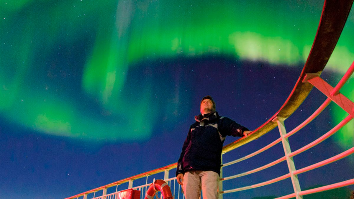 Si la aurora boreal no aparece, Hurtigruten te compensa ofreciéndote otro crucero de una semana de forma gratuita