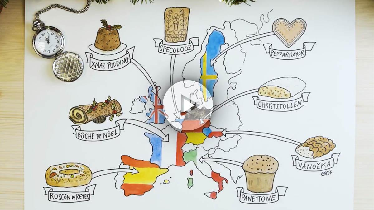 El turrón y el roscón de Reyes se cuelan entre los dulces navideños que más triunfan en Instagram entre los europeos