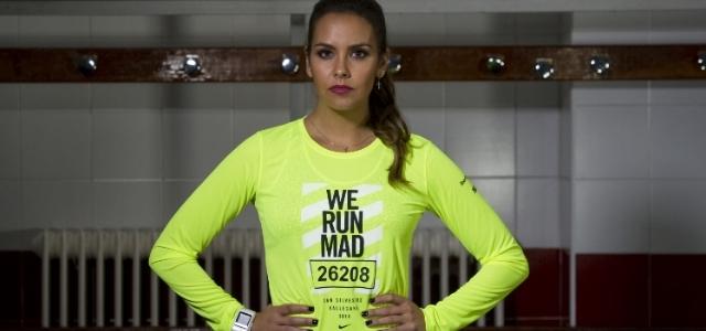 Cristina Pedroche running