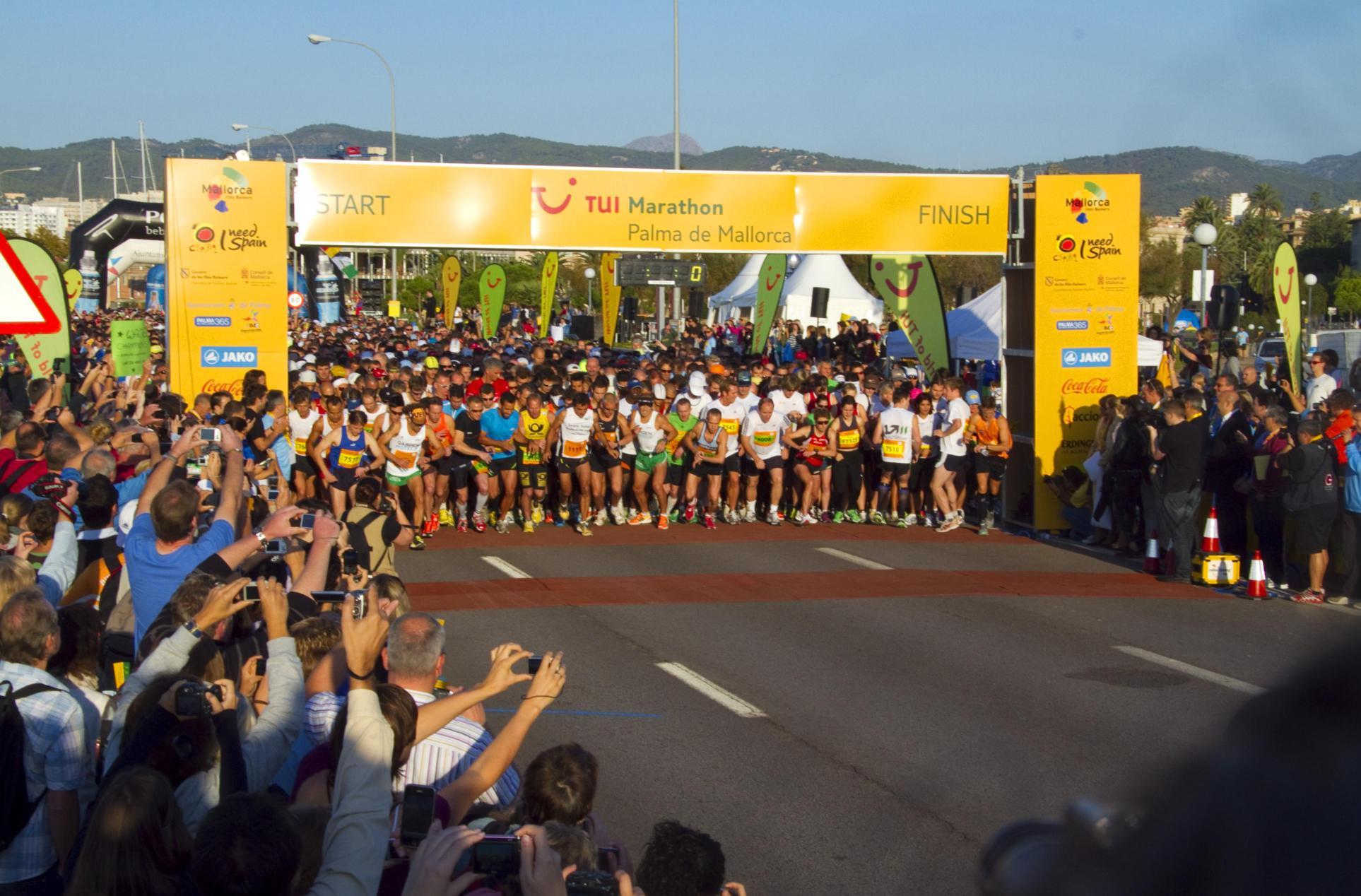 El Palma de Mallorca Marathon aspira reunir a 10.000 corredores en tres carreras