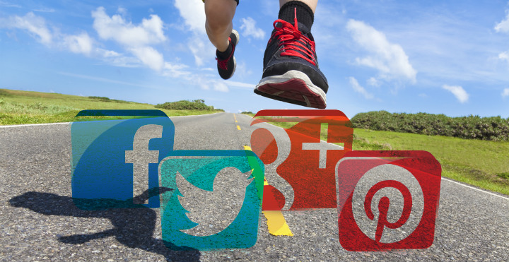 running redes sociales