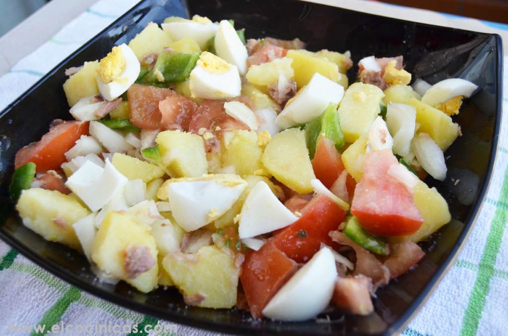Ensalada tomate, patata