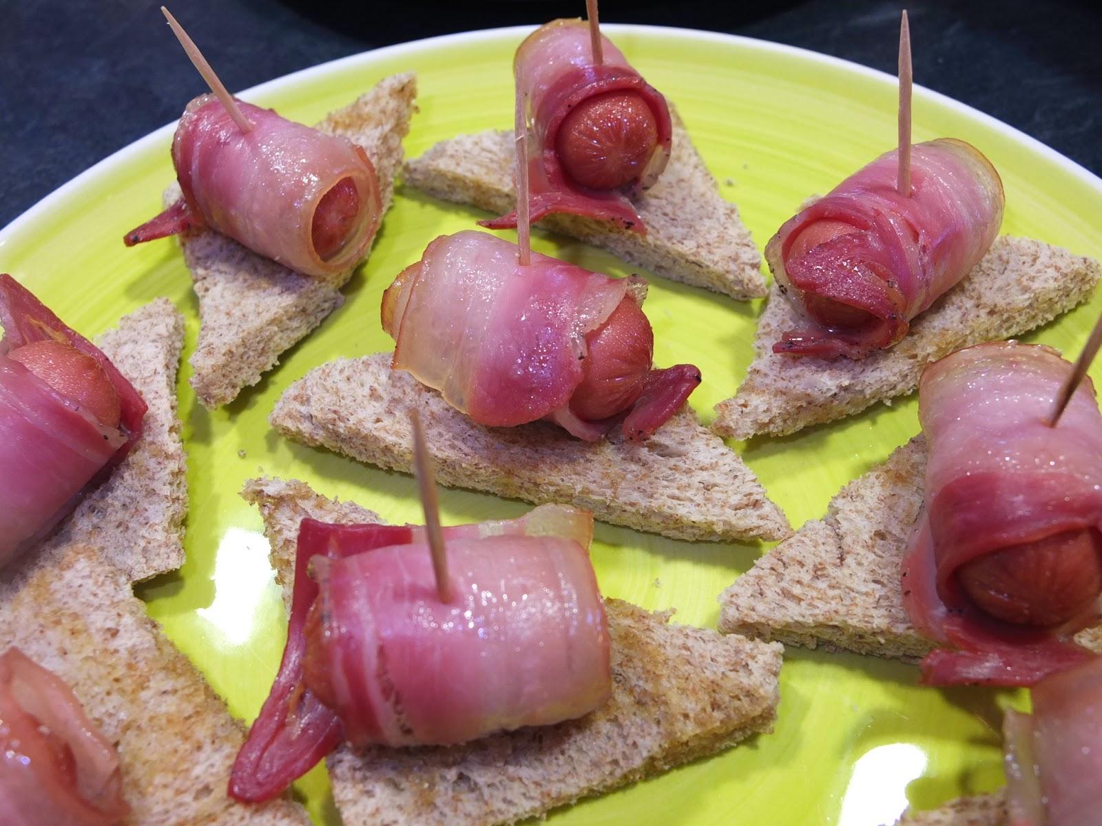 bacon y salchicha