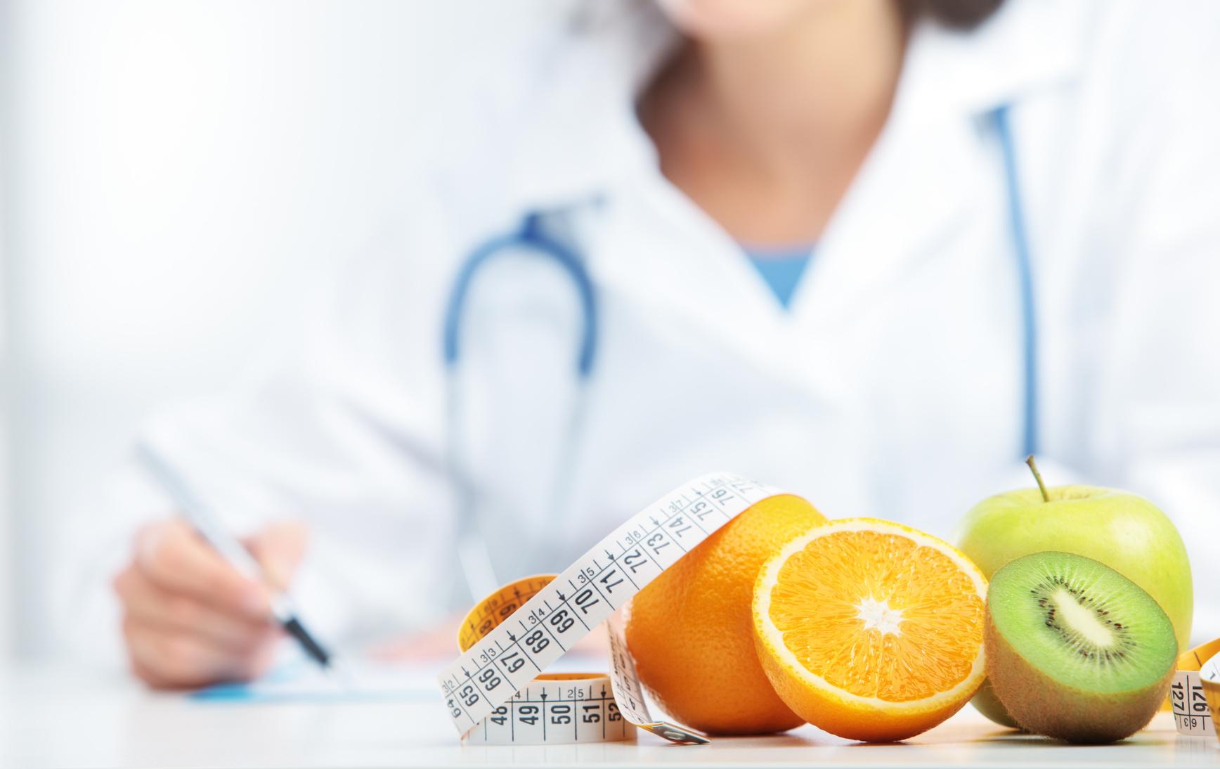 Consulta de un nutricionista o dietista