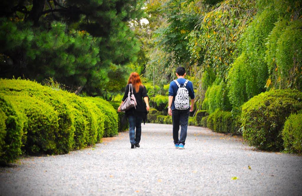 caminar parque