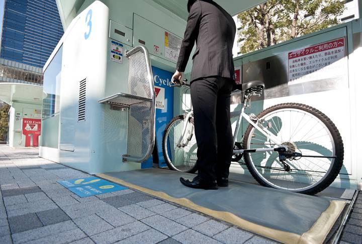 Estación Eco Cycle en Japón