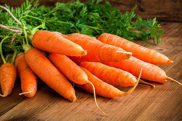 Mantener el bronceado: Zanahoria