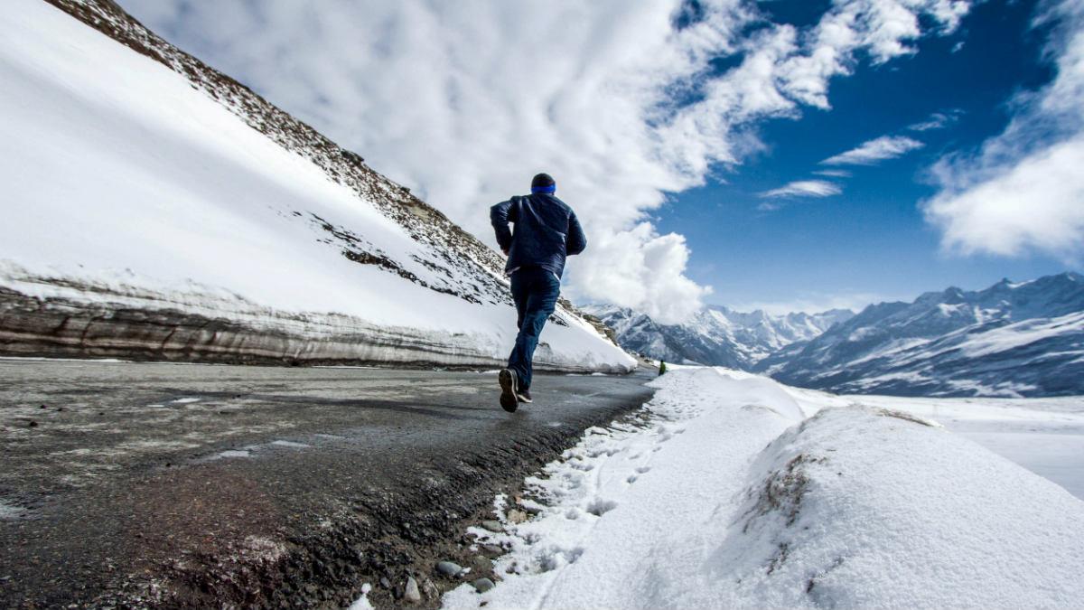 correr invierno