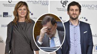 La actriz Emma Suárez, el director de cine Raúl Arévalo y el presidente Mariano Rajoy, en un fotomontaje de Look.