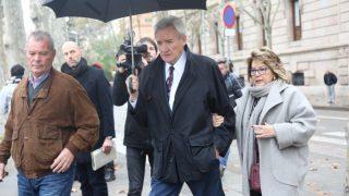 Luis del Olmo, acudiendo al juicio contra su exadministrador /Gtres