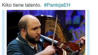 Kiko Rivera tocando al revés el violín en 'El Hormiguero', en un meme de un usuario de Twitter.