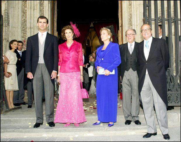 El entonces Príncipe Felipe en la boda de Marcos Álvarez Royo-Villanova