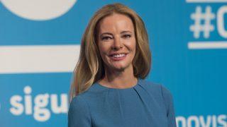 La presentadora Paula Vázquez durante la presentación del primer aniversario de la cadena #0 de Movistar.