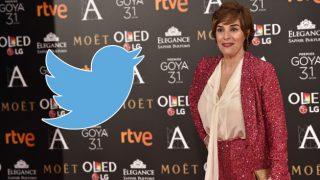 La actriz Anabel Alonso durante los Premios Goya, en un fotomontaje de Look