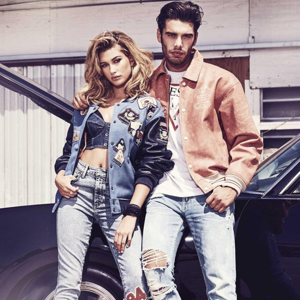hailey baldwin stefano sala guess