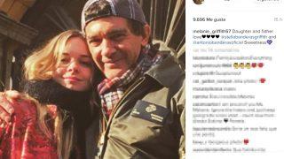 Antonio Banderas y su hija, en una publicación de Melanie Griffith
