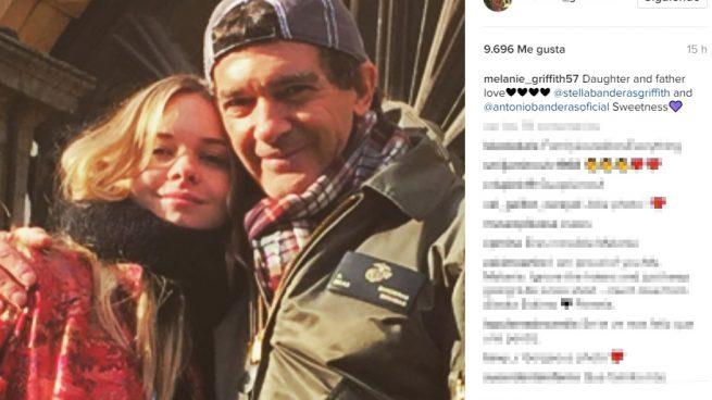 El apoyo de Melanie Griffith a su ex Antonio Banderas