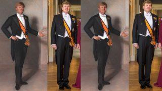 El rey Guillermo Alejandro de Holanda, en un fotomontaje de Look