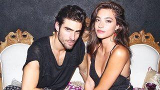 Los modelos Juan Betancourt y Rocío Crusset, en una imagen de Instagram
