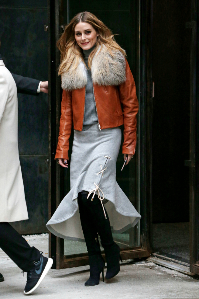 Olivia Palermo New York Fashion Week Abrigo