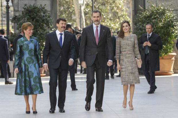 Reyes y presidente Hungria