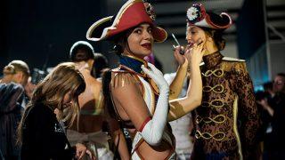 Rocío Crusset antes momentos antes de desfilar en la Madrid Fashion Week / Foto: Gtres