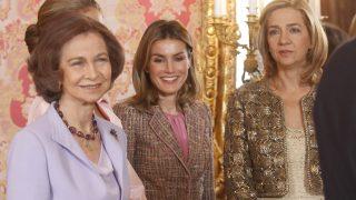 La reina Sofía, la reina Letizia y la infanta Cristina, en una imagen de archivo (Gtres)
