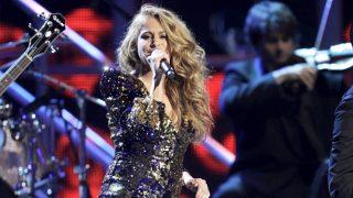 La cantante Paulina Rubio, durante uno de sus conciertos (Gtres)