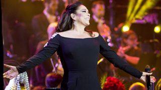 La cantante Isabel Pantoja, durante su último concierto en Madrid (Gtres)