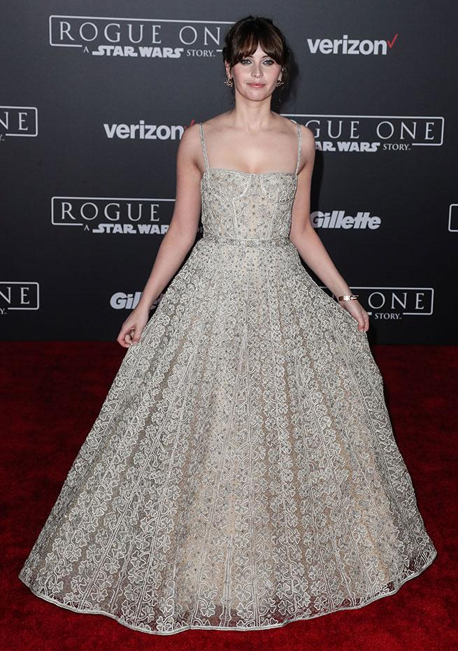 Felicity Jones Dior premier Star Wars