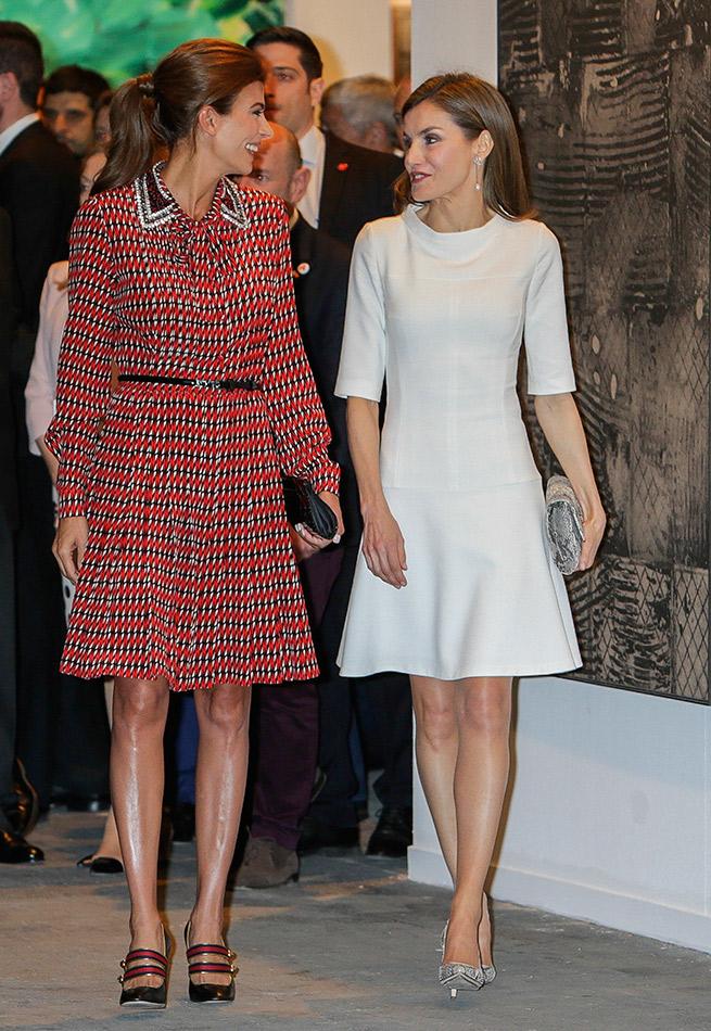 Letizia y Juliana Awada ARCO