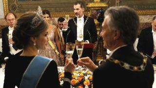 Los Reyes cenaron en el Palacio Real de Madrid (Gtres)