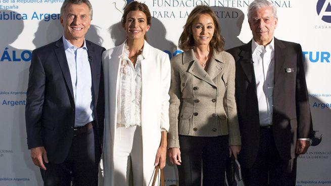 Mauricio Macri, Juliana Awada, Isabel Preysler y Mario Vargas Llosa