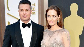 Brad Pitt y Angelina Jolie durante la gala de los Oscar en 2014 (Gtres)