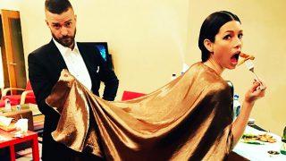 Justin Timberlake y Jessica Biel tras la gala de los Oscar 2017 (Instagram)