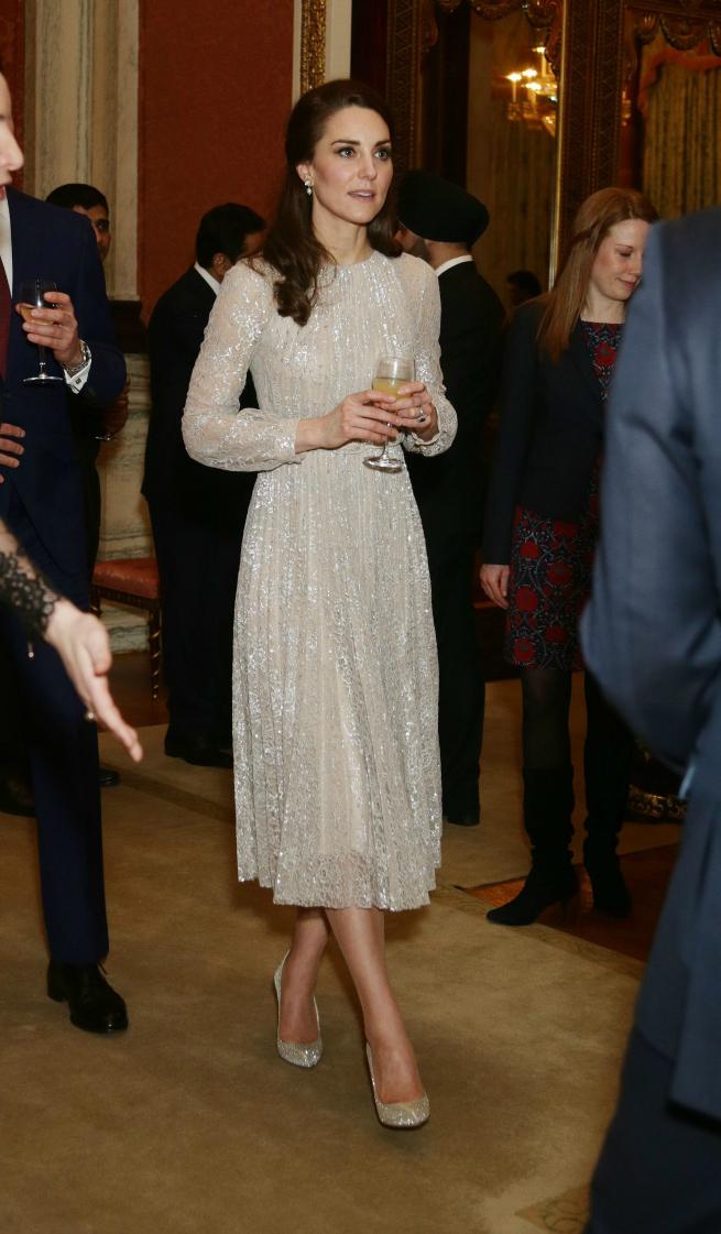 Kate Middleton Vestido Isabella Huppert Erdem Armani