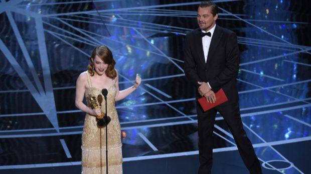 Emma Stone y Leonardo DiCaprio