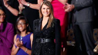 Melania Trump en el Congreso con un traje de Michael Kors / Gtres