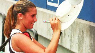María Antonia Sánchez Lorenzo en su etapa como tenista.